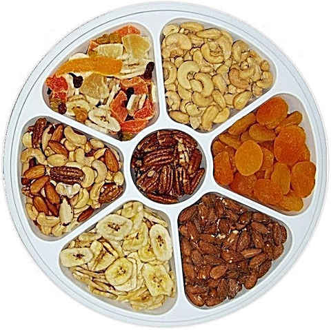 Dried Fruit and Nuts Party Tray - Half Nuts