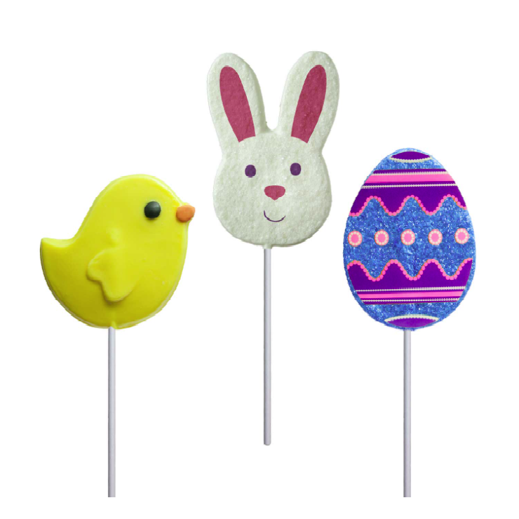 Melville Fancy Easter Lollipop-Half Nuts-Bunny-Half Nuts
