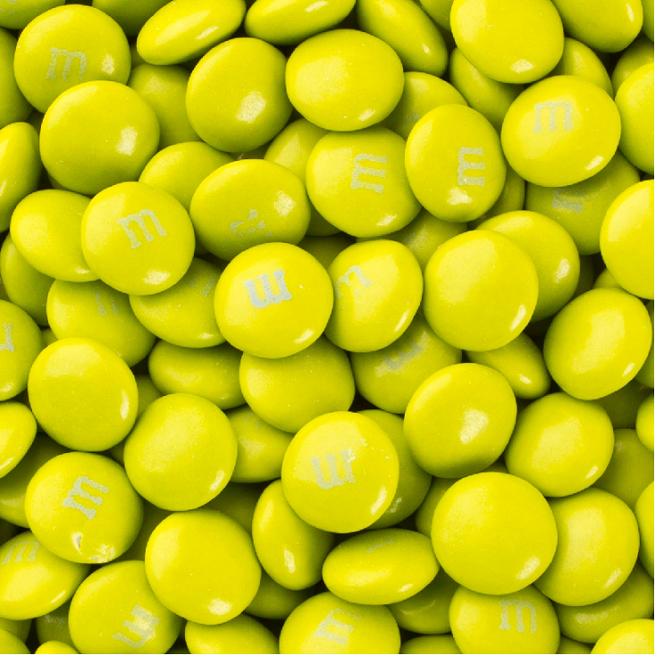 Electric Green chocolate m&ms