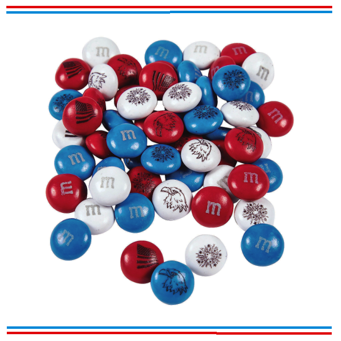 Freedom Blend Chocolate M&Ms-Half Nuts-Half Nuts
