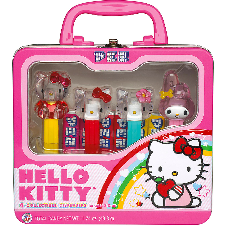 PEZ - Hello Kitty Lunch Box Tin-Half Nuts-Half Nuts