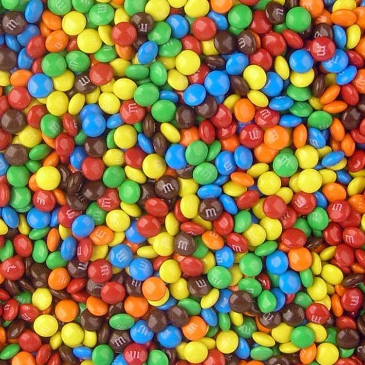 Mini Chocolate M&M's-Half Nuts-Half Nuts
