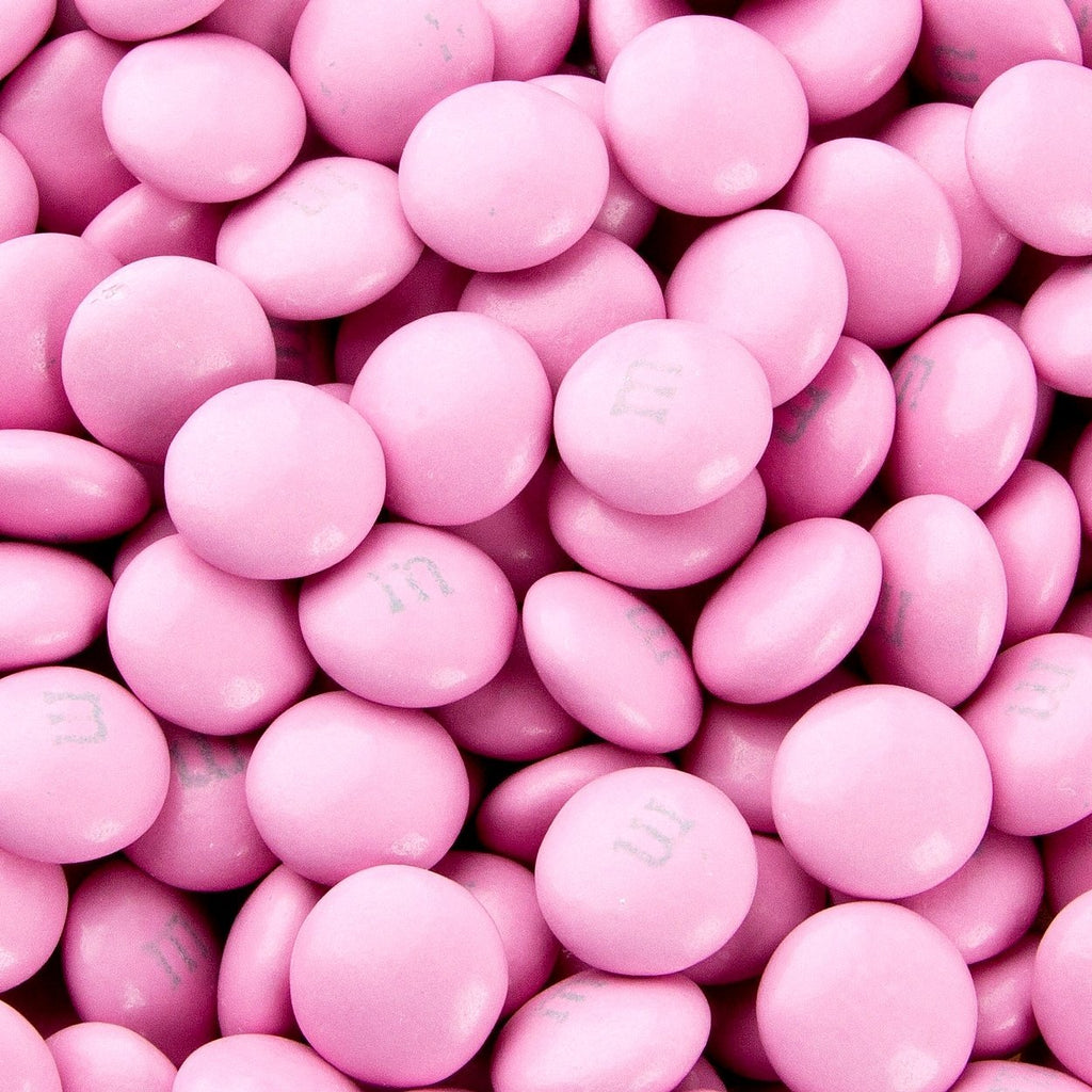 M&Ms - Light Pink-Manufacturer-One Pound-Half Nuts