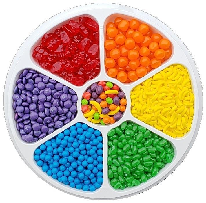 Rainbow Candy Party Tray-Half Nuts-Half Nuts