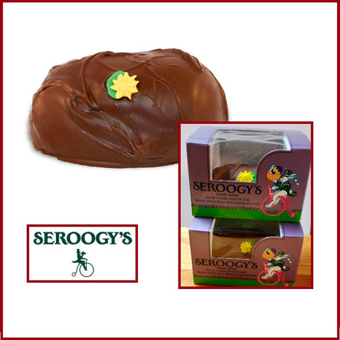 Seroogy Fudge Egg-Half Nuts-Half Nuts