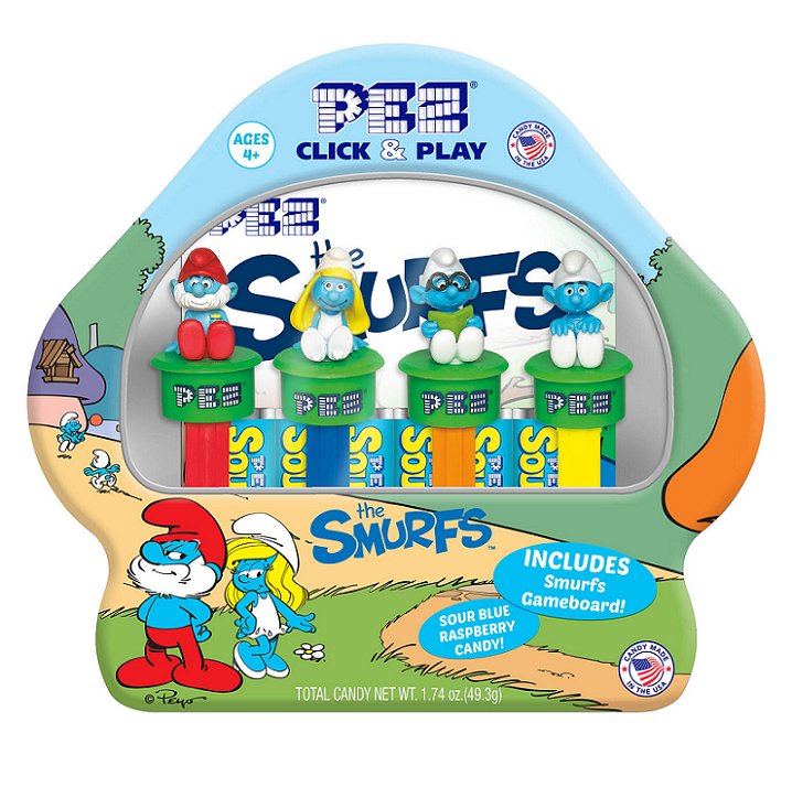 PEZ - Click and Play Smurfs Gift Set and Game-Half Nuts-Half Nuts