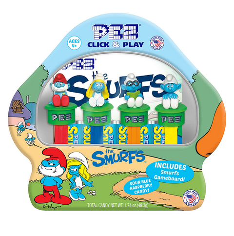 PEZ Click and Play Smurfs Gift Tin and Game
