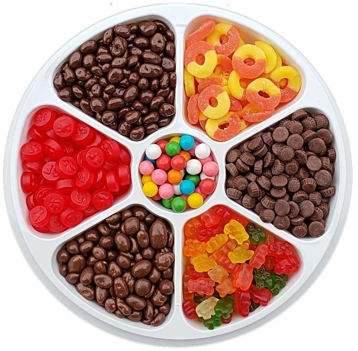 Sugar Free Sweet Treats Party Tray-Half Nuts-Half Nuts