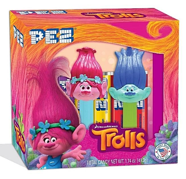PEZ - Trolls Gift Set-Half Nuts-Poppy and Branch-Half Nuts