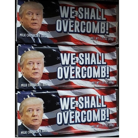 Donald Trump Chocolate Bar - We Shall Overcomb!-Half Nuts-Half Nuts