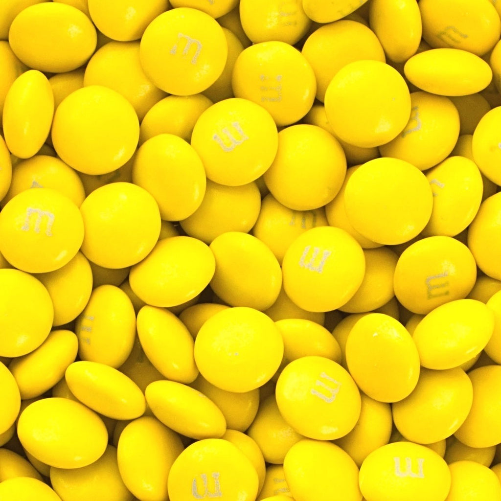 M&Ms - Yellow-Manufacturer-One Pound-Half Nuts