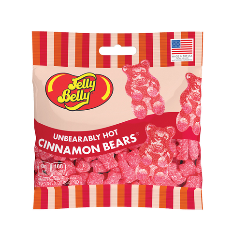 Jelly Belly Unbearably Hot Cinnamon Bears-Half Nuts-Half Nuts