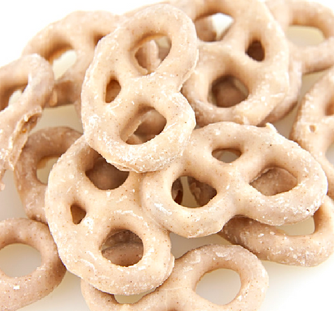 Apple Cinnamon Yogurt Pretzels-Half Nuts-Half Nuts