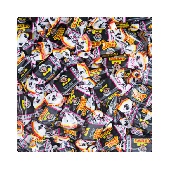 Albert's Fruit Chews-Black Cherry-Half Nuts-Half Nuts