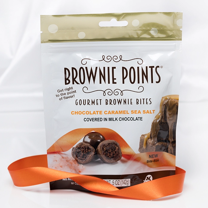 Brownie Points Gourmet Brownie Bites - Chocolate Caramel Sea Salt-Half Nuts-Milk-Half Nuts