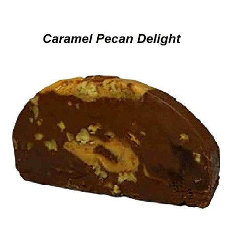 Devon's Mackinac Island Fudge - Caramel Pecan Delight-Half Nuts-Half Nuts