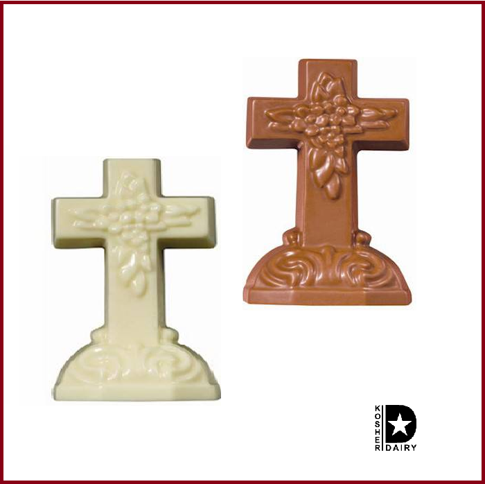 Solid Chocolate Cross-Half Nuts-Milk-Half Nuts