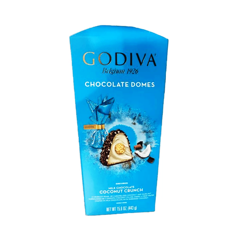 Godiva Chocolates Belgium Chocolate Domes-Half Nuts-Half Nuts