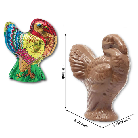Madelaine Milk Chocolate Turkey - Large-Half Nuts-Half Nuts