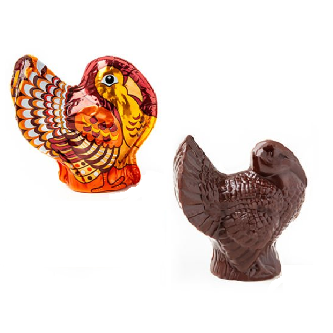 Madelaine Dark Chocolate Turkey - Medium-Half Nuts-Half Nuts