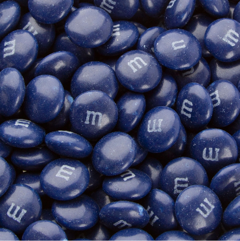 M&Ms - Dark Blue-Manufacturer-One Pound-Half Nuts