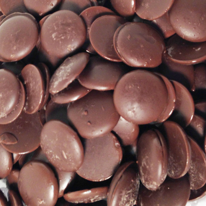 Melting Chocolate Disks - Dark Chocolate-Half Nuts-Half Nuts