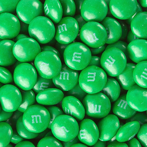 Dark green chocolate m&ms