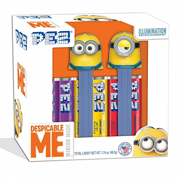 PEZ - Despicable Me (Minions) Twin Pack Gift Set-Half Nuts-Half Nuts