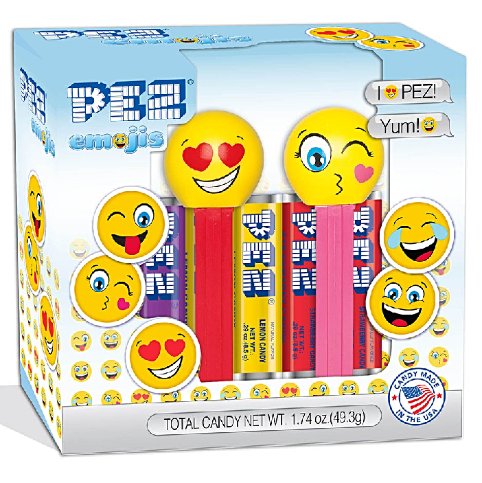 PEZ - Emoji Twin Pack Gift Set-Half Nuts-Half Nuts