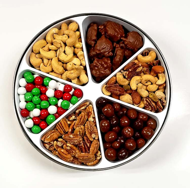 Deluxe Gift Tin Assortment-Half Nuts-Jelly Belly Christmas Dutch Mints-Half Nuts