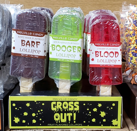 GROSS OUT! Lollipops-Half Nuts-Barf (Root Beer)-Half Nuts