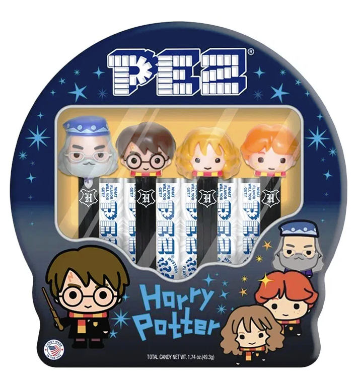PEZ- Harry Potter Gift Tin-Half Nuts-Half Nuts