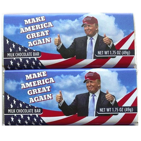 Donald Trump Chocolate Bar - Make America Great Again!-Half Nuts-Half Nuts