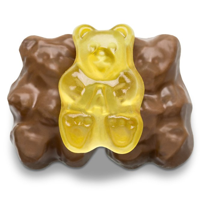 Chocolate Banana Gummi Bears - Half Nuts