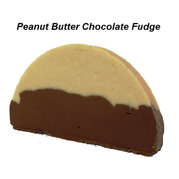 Devon's Mackinac Island Fudge - Peanut Butter Chocolate Fudge-Half Nuts-Half Nuts