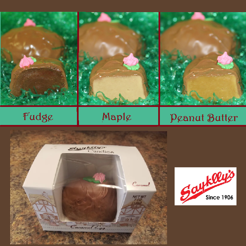 Sayklly's Candies Fudge Eggs - 7 oz.-Half Nuts-Maple-Half Nuts