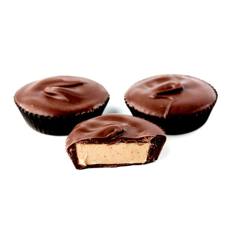 Sugar Free Dark Chocolate Peanut Butter Cups-Half Nuts-Half Nuts