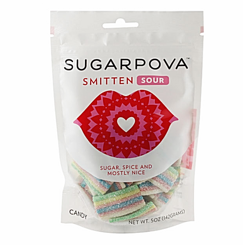 SUGARPOVA Smitten Sour Rainbow Gummies