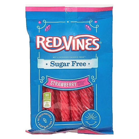 Sugar Free Red Vines - Strawberry-Half Nuts-Half Nuts