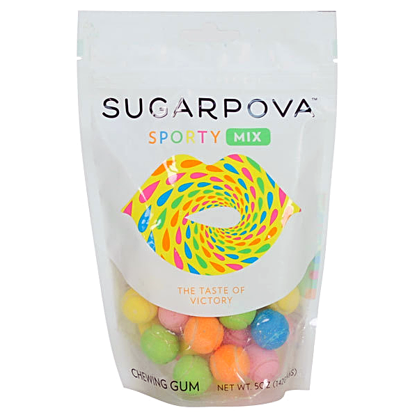 SUGARPOVA Sporty Mix Tennis Ball Gum-Half Nuts-Half Nuts