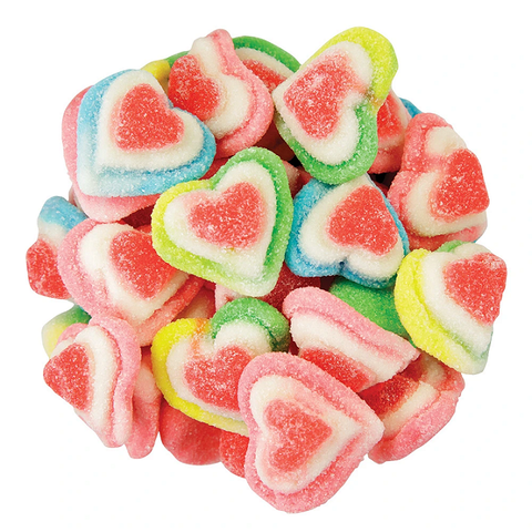 Gummi Triple Layer Hearts-Half Nuts-Half Nuts