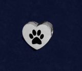 Single Heart Paw Charm