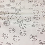 Cartoon Cat Fabric 100% Cotton Twill