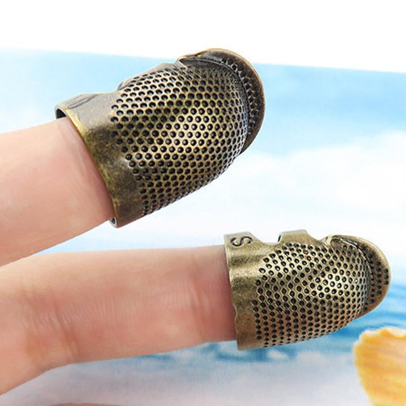 NeverPoke Antique Brass Finished Metal Thimble