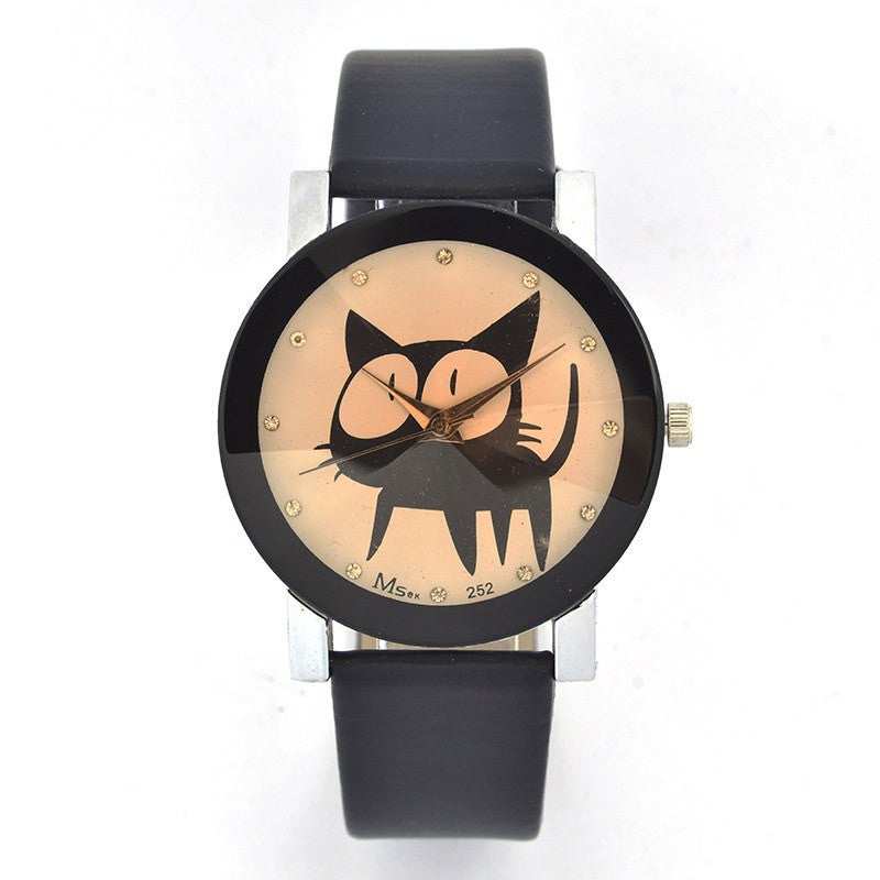 Best Sellers - Big Eye Cat Watch - Stainless Steel