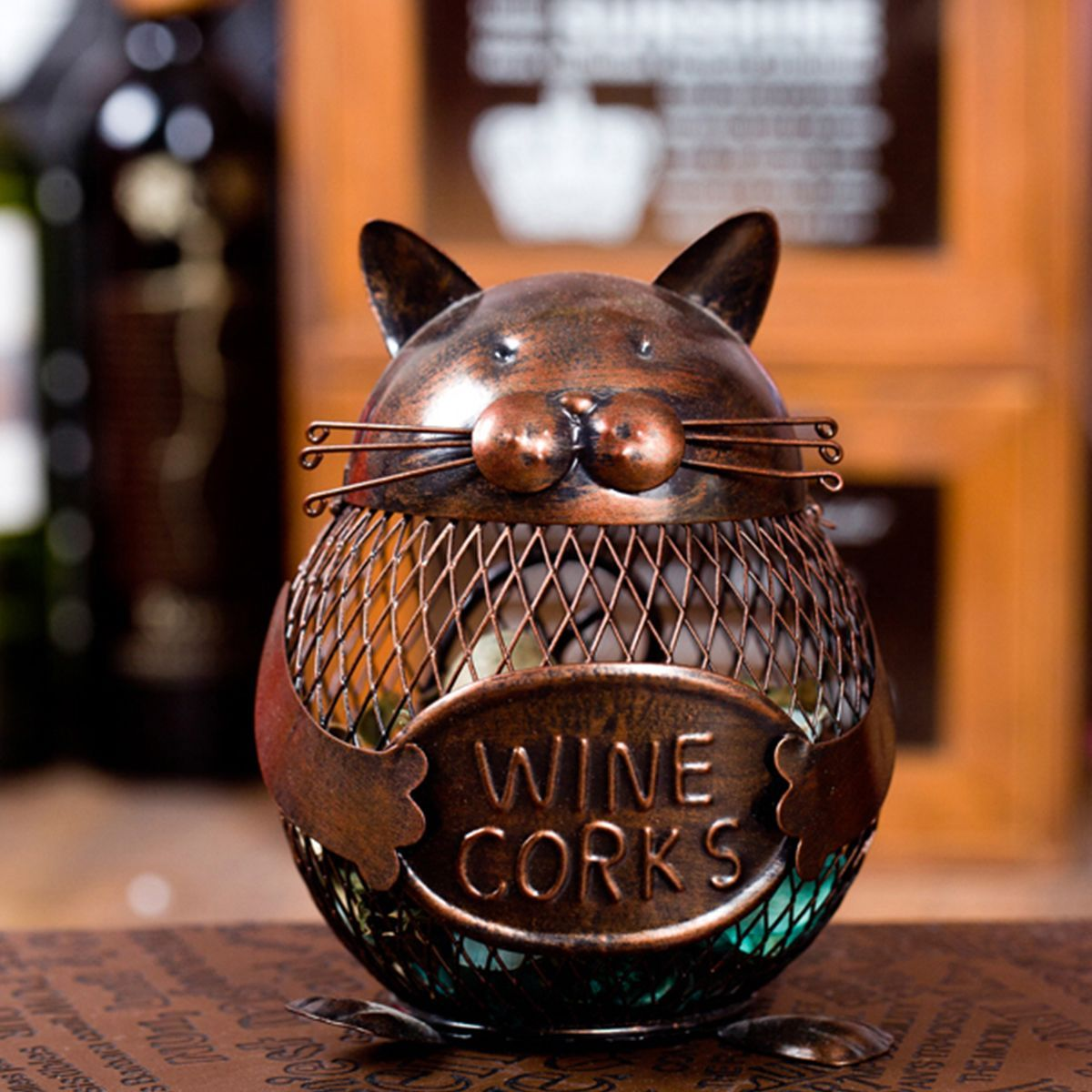 Cat Lovers - Kitty Wine Cork Or Knickknack Holder