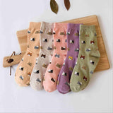 Clothing And Accessories - Cartoon Cat Socks - Multiple Colors