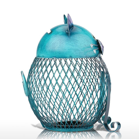 Penny the blue cat bank for Beautiful home decor items
