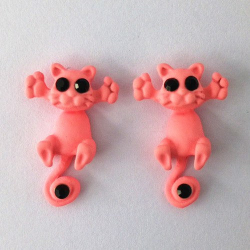 Jewelry And Watches - Hands Up Kitty Earrings