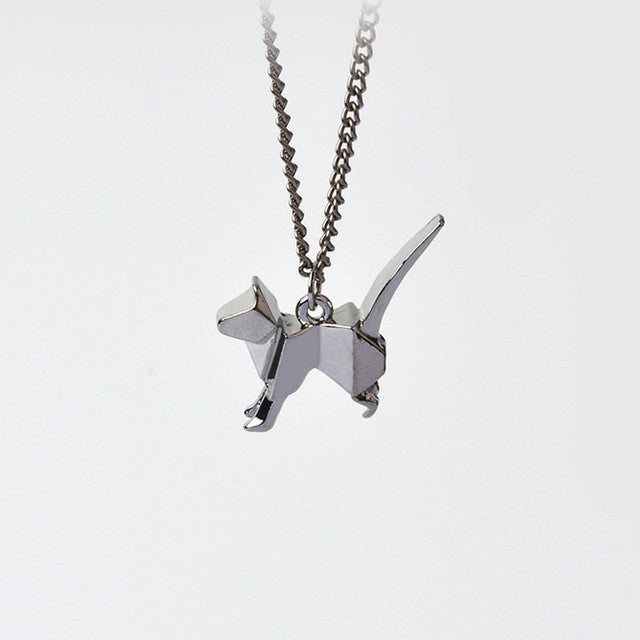 Jewelry And Watches - Origami Cat Necklace